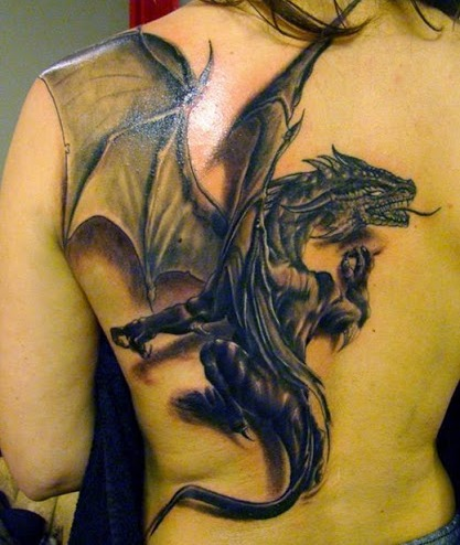 Girls Dragon Tattoo